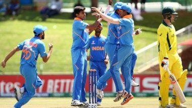 Kartik Tyagi, Atharva Ankolekar Shine As India U19 Qualify for Semi-Final of ICC Under 19 CWC 2020, Beat Australia U19 by 74 Runs in Quarter-Final