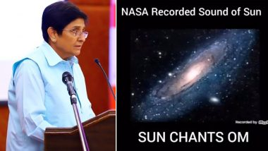 Does The Sun Chant 'Aum' or 'Om'? Kiran Bedi Tweets Fake Audio Recording, Gets Trolled; Watch and Hear Real NASA Video