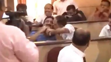 Maharashtra: Kolhapur BJP Corporator Kisses Congress Leader in Packed Assembly, Video Goes Viral
