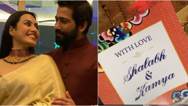 Kamya PunjabiShares a Glimpse of Her Wedding Card on Instagram Ahead of Her February Wedding With BeauShalabh Dang