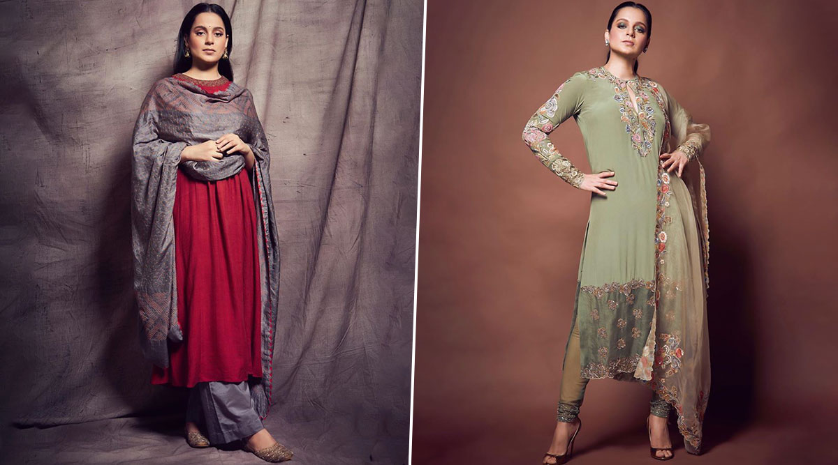 Kangana Ranaut's Back to Back Ethnic Styles for Panga Promotions Are Poetic and Minimalist Chic!
