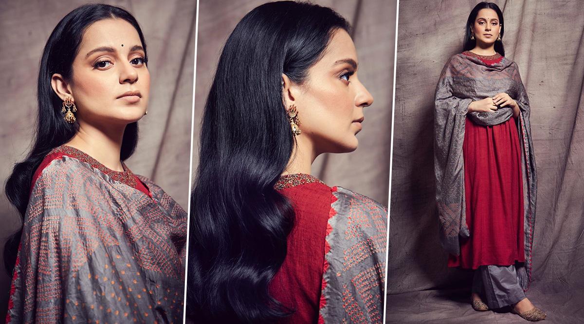 Kangana Ranaut in Priya Parikh for Panga promotions