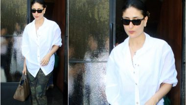 Kareena Kapoor Khan Goes Casual Yet Classy At Her Recent Outing in a White Shirt and Camouflage Pants (See Pics)