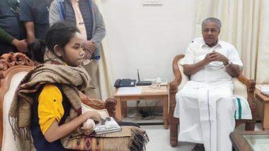 Kerala CM Pinarayi Vijayan Meets JNUSU Chief Aishe Ghosh Amid JNU Violence Row, See Pics