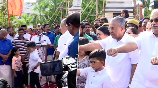 Kerala CM Pinarayi Vijayan Participates in Anti-CAA Human Chain on R-Day, Calls Centre's Move 'Threat to Secularism' of Nation