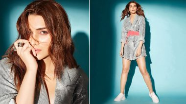 Kriti Sanon Shines, Smiles and Sparkles in Just a Deme Blazer!