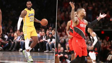 La Lakers Vs Portland Trail Blazers Nba 2019 20 Live Streaming Online On Sonyliv Free Telecast Of Basketball Match In India Along With Time In Ist Latestly