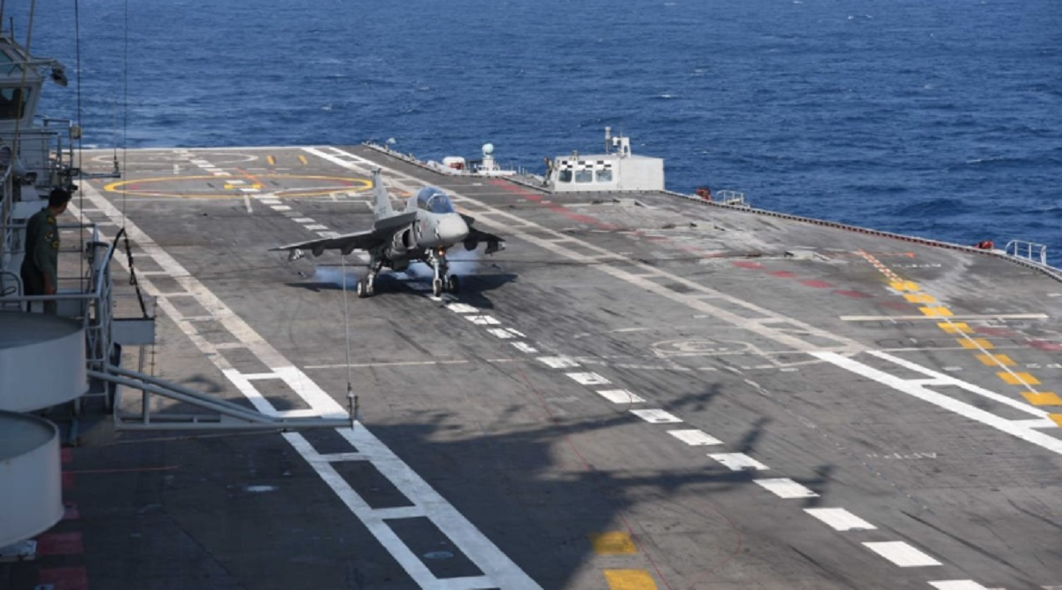 Naval Light Combat Aircraft Tejas Becomes First Indigenous Jet to Land on Aircraft Carrier