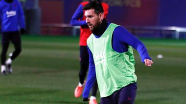 Lionel Messi Back To Training With Barcelona Ahead of La Liga 2019–20 Clash Against Espanyol (See Pics)