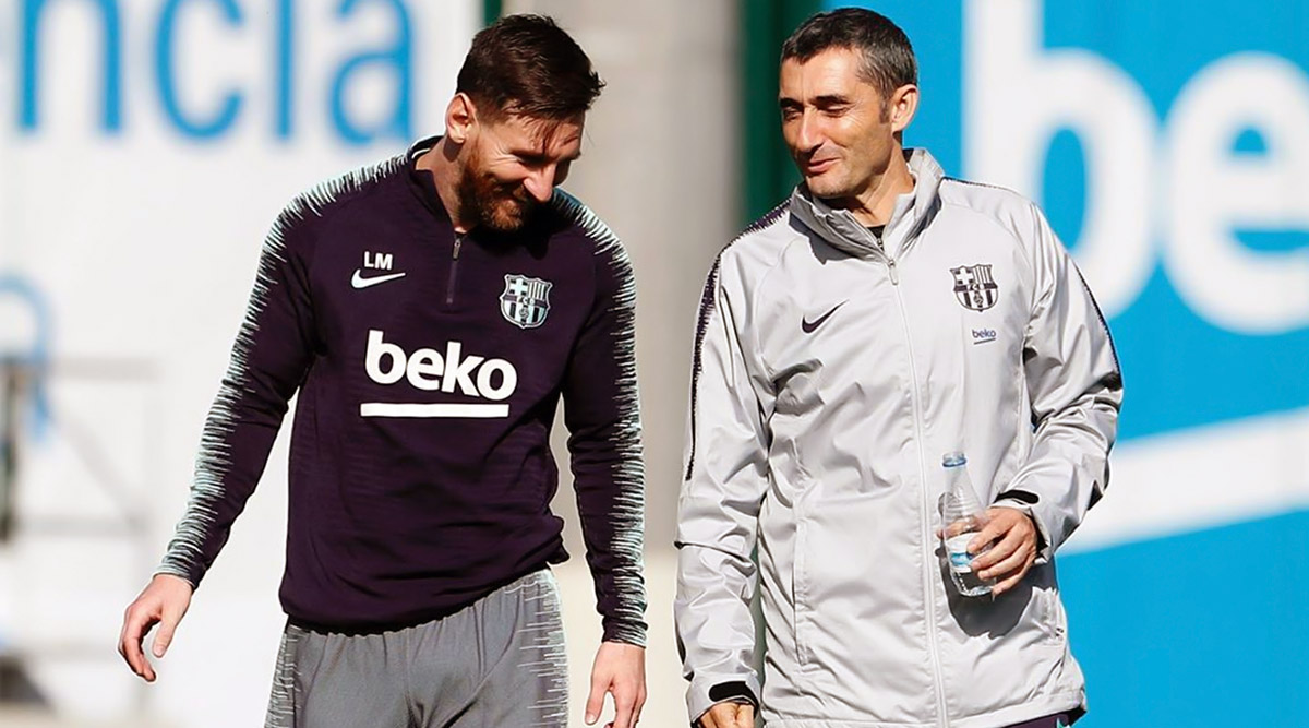 Lionel Messi Thanks Sacked Barcelona Coach Ernesto Valverde in Instagram Post, Wishes Luck for Future Endeavours