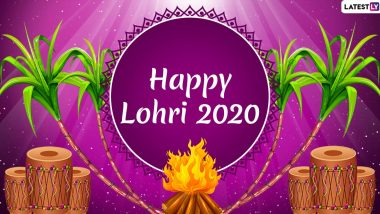 Happy Lohri 2020 Messages in Hindi: WhatsApp Stickers, HD Images, Hike GIF Greetings, SMS, Quotes and Wallpapers to Send Family & Friends