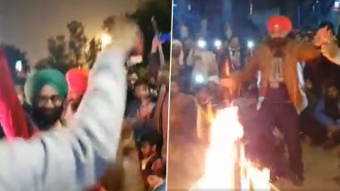 Lohri Celebrations at Shaheen Bagh: Anti-CAA Protesters Celebrate Punjabi Festival at Protest Site, Watch Video