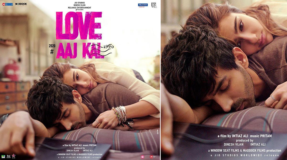 Love Aaj Kal Poster: Kartik Aaryan-Sara Ali Khan as 'Veer' and 'Zoe' Are Here To Make Valentine's Day 2020 Mushier! (View Pic)