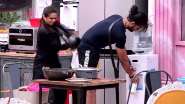 Bigg Boss 13: Fans Feel Madhurima Tuli's Act of Beating Vishal Aditya Singh With a Pan Was Gross (Read Tweets)