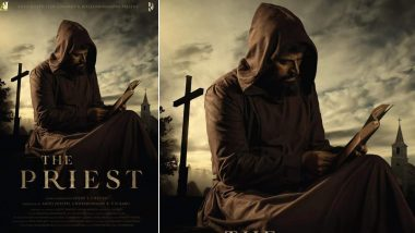 The Priest First Look: Superstar Mammootty's Avatar in a Brown Cassock, Reading a Bible, Will Leave You Asking for More About This Flick (View Pic)