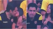 Barcelona vs Delfin Kiss Cam Video: Man Caught Kissing Woman Admits to Cheating on His Partner