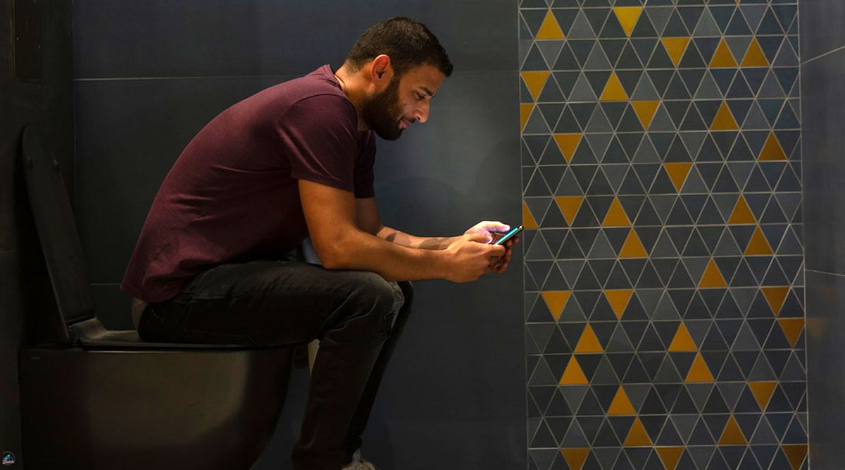 Wife Turns Off WiFi After Husband Hides in The Bathroom to Watch Videos And Avoid Changing Child's Nappy
