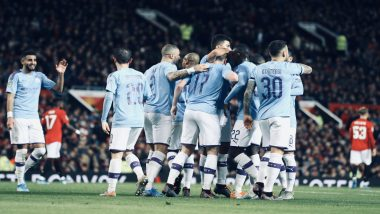 Manchester United 1-3 Man City, EFL Cup 2019-20 Semi-Final Leg 1 Result: Defending Champions Land a Foot in Final With Crushing 3-1 Win Over United in City Derby