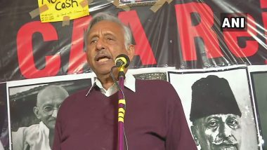 Congress' Mani Shankar Aiyar Joins Shaheen Bagh Protests, Hits Out at Ruling Regime With 'Kaatil' Remark