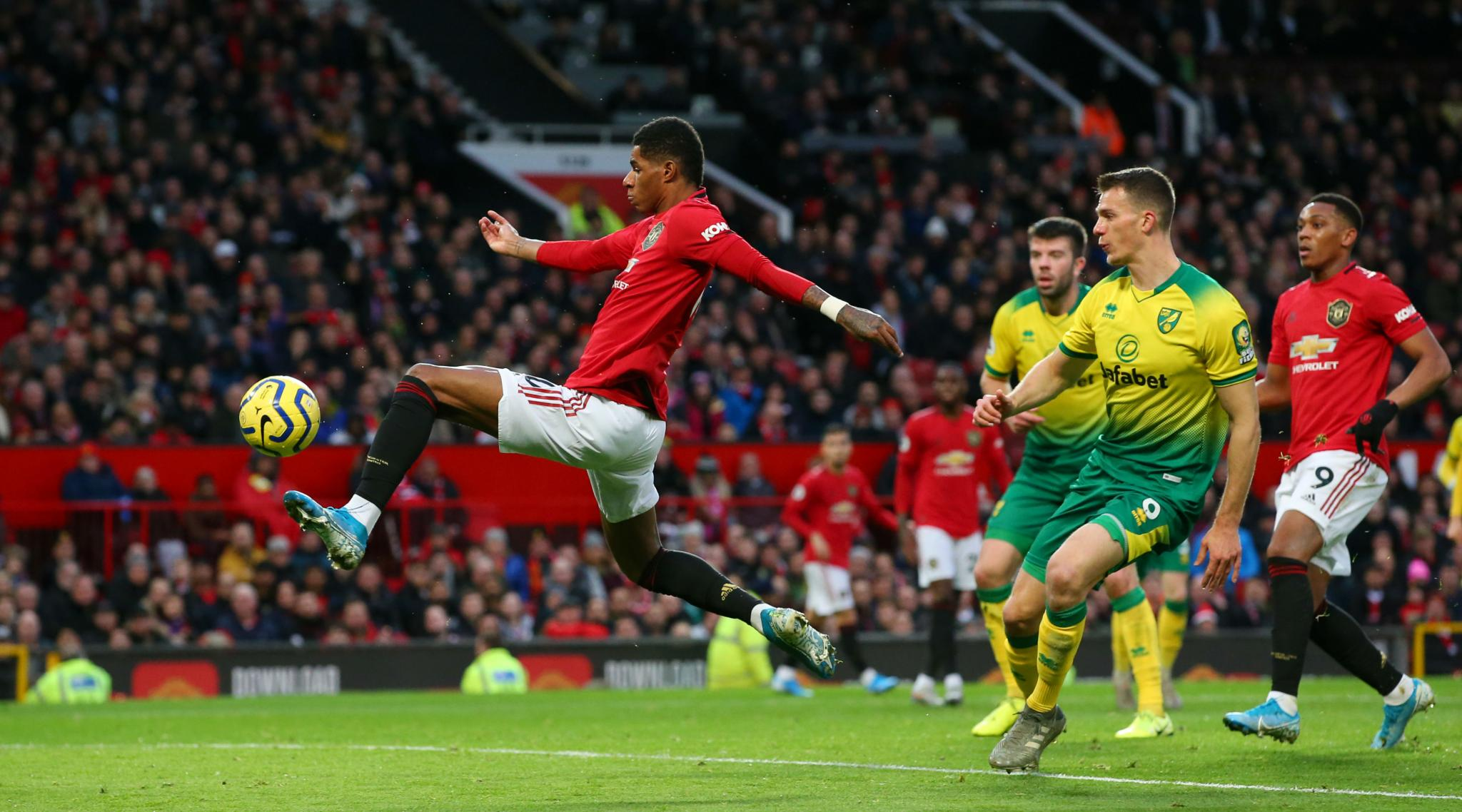 Manchester United 4-0 Norwich, Premier League 2019-20 Result: Marcus Rashford Double on 200th Appearance Helps Man United Smash Canaries