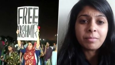'Free Kashmir' Poster: FIR Against Mehak Mirza Prabhu For Holding Placard During Gateway of India Protest in Mumbai