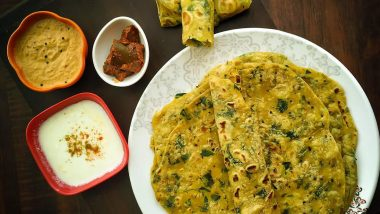 Methi Paratha For Winter: Why this Fenugreek Leaves Delicacy Should be Tried Out During Cold Weather For Good Health (Watch Video)