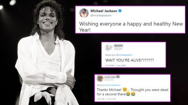 Michael Jackson's Twitter Account Wishes Everyone Happy and Healthy New Year, Twitterati Wonders If There's WiFi in Grave (Check Funny Responses)