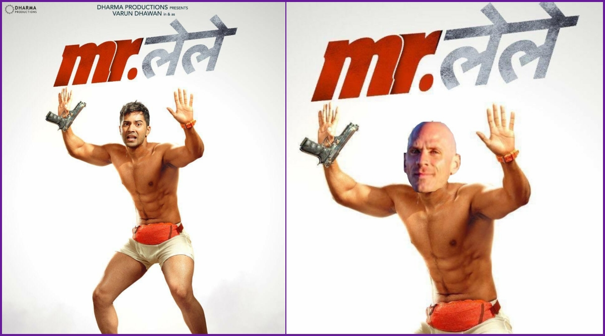 Mr Lele Poster Funny Memes and Jokes Trend As Varun Dhawan's Stripping Act Gets Compared to Porn Star Johnny Sins!
