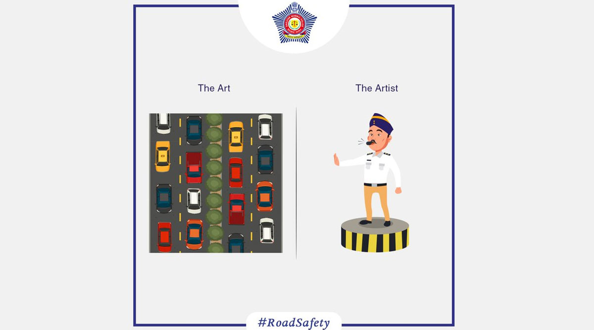 #TheArtVsTheArtist: Mumbai Police Praises Cops For The 'Art of Traffic Policing'