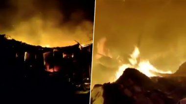 Thane: Major Fire Breaks Out in Mumbra, Fire Tenders Reach Spot