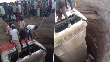 Maharashtra Road Accident: Bus Rams Into Rickshaw in Nashik, Both Fall in Well; 20 Killed, 30 Injured