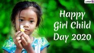 National Girl Child Day Images & HD Wallpapers for Free Download Online: Wish Happy Girl Child Day 2020 With WhatsApp Stickers and GIF Messages