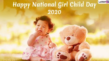 Happy National Girl Child Day 2020 Greetings: WhatsApp Stickers, Images, Hike GIF Messages, Quotes and SMS to Send Wishes on January 24