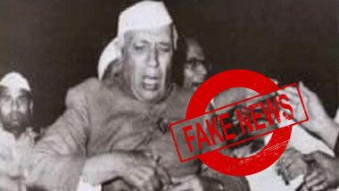 Was Jawaharlal Nehru Slapped by Swami Vidyanand Videh in 1962? Here's a Fact-Check as Image With Fake Claims Goes Viral