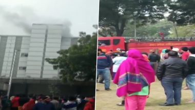 Noida Fire: Blaze Engulfs ESI Hospital, Patients Evacuated, Fire Fighting Operations Underway
