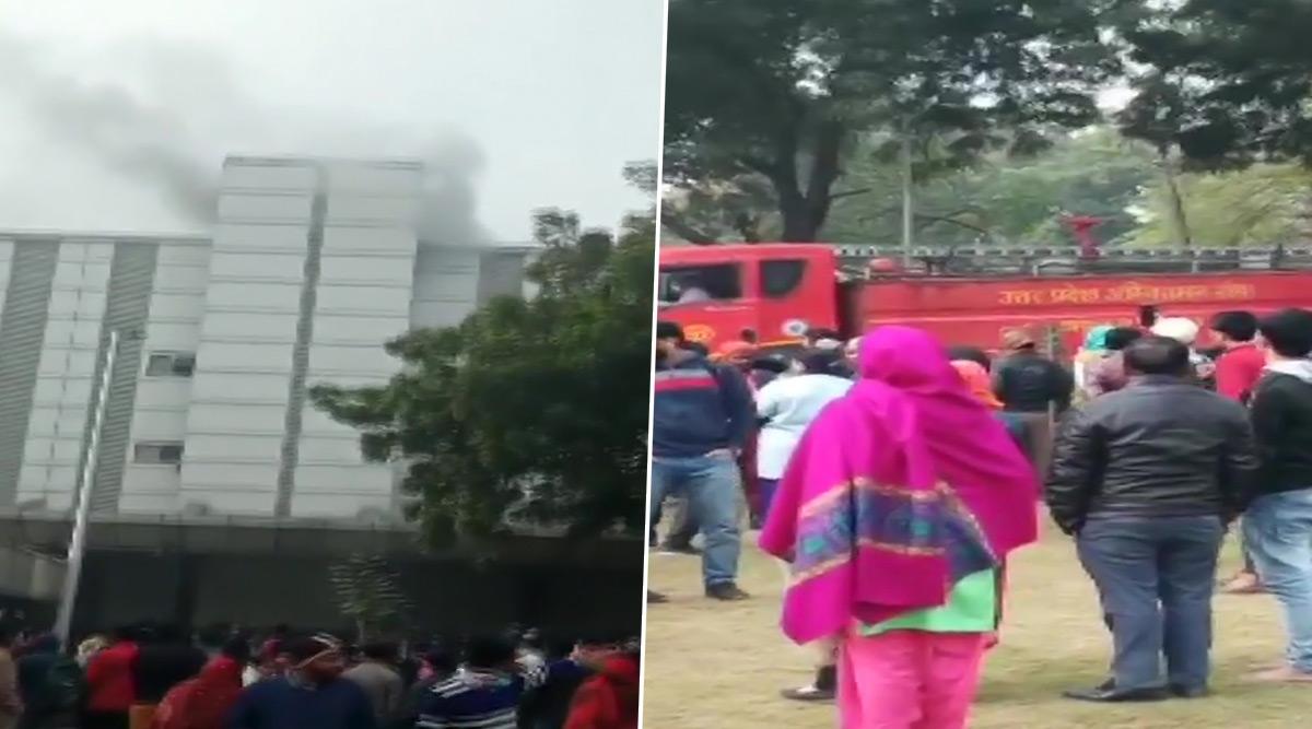 Noida Fire: Blaze Engulfs ESI Hospital, Patients Evacuated, Fire Fighting Operations Underway