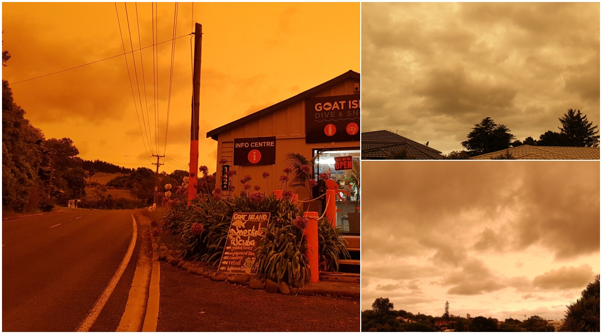 New Zealand Skies Turn Orange After Being Engulfed by Smoke From Australian Bushfires (View Pics and Videos)