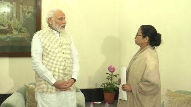 PM Narendra Modi Reaches Kolkata for 150th Anniversary Celebration of Kolkata Port Trust Amid Anti-CAA Stir, Meets CM Mamata Banerjee
