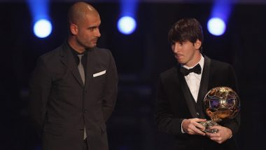 Lionel Messi Is the Best: Manchester City Boss Pep Guardiola Laughs Off Messi-Sergio Aguero Comparison (Watch Video)