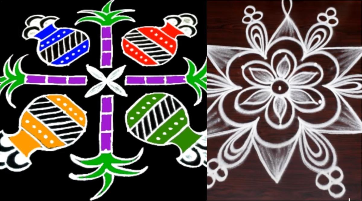 Pongal 2020 Kolam and Rangoli Design: Simple Sankranthi Muggulu And Beautiful Dot Patterns For The Harvest Festival (Watch Videos)
