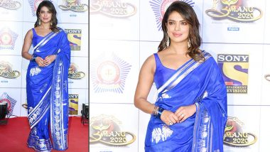 Priyanka Chopra, Classy, Chic and Blue-Tiful in a Banarasi Saree!