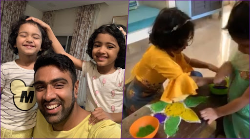 R Ashwin Shares Video of Daughters Making Rangoli During Pongal 2020 Celebrations and It Is Too Sweet For Words