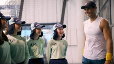 Rafael Nadal Engages in Q&A Session With Ballkids at Australian Open 2020 (Watch Video)