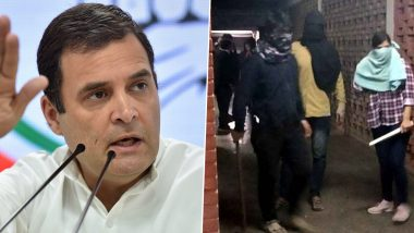 JNU Violence: Rahul Gandhi Tweets Saying 'Fascists in Control of Nation Afraid of Voices of Brave Students', Calls Attack 'Reflection of Fear'