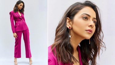 Rakul Preet Singh Is Pretty, Perfect and Poised in a Pink Pantsuit!