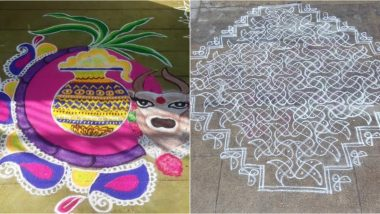 Pongal 2020 Kolam Images: Twitterati Share Beautiful And Easy Rangoli Designs As Festival Celebrations Continue