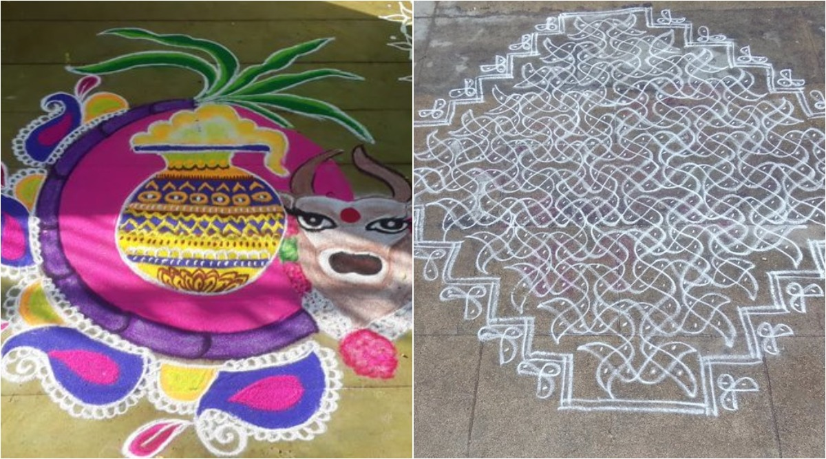 Pongal 2020 Kolam Images: Twitterati Share Beautiful And Easy Rangoli Designs As Festival Celebrations Continue