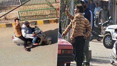Jayeshbhai Jordaar: Ranveer Singh Spotted in His Gujju Element in Gujarat, Fans Can't Stop Hooting (Watch Video)