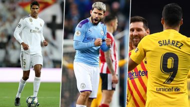 Top 5 Goals of the Week: From Raphael Varane vs Getafe to Sergio Aguero vs Port Vale, Here's the Best of Football Goals
