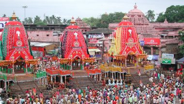 Lord Jagannath Rath Yatra 2021 Taken Out in Ahmedabad Amid COVID-19 Curfew